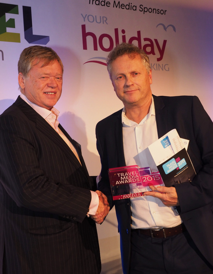 Peter Healey Your Holiday Booking with Steve Hartridge, Selling Travel Magazine